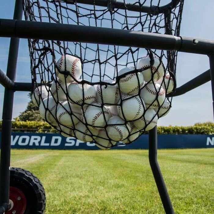 baseball ball storage cart