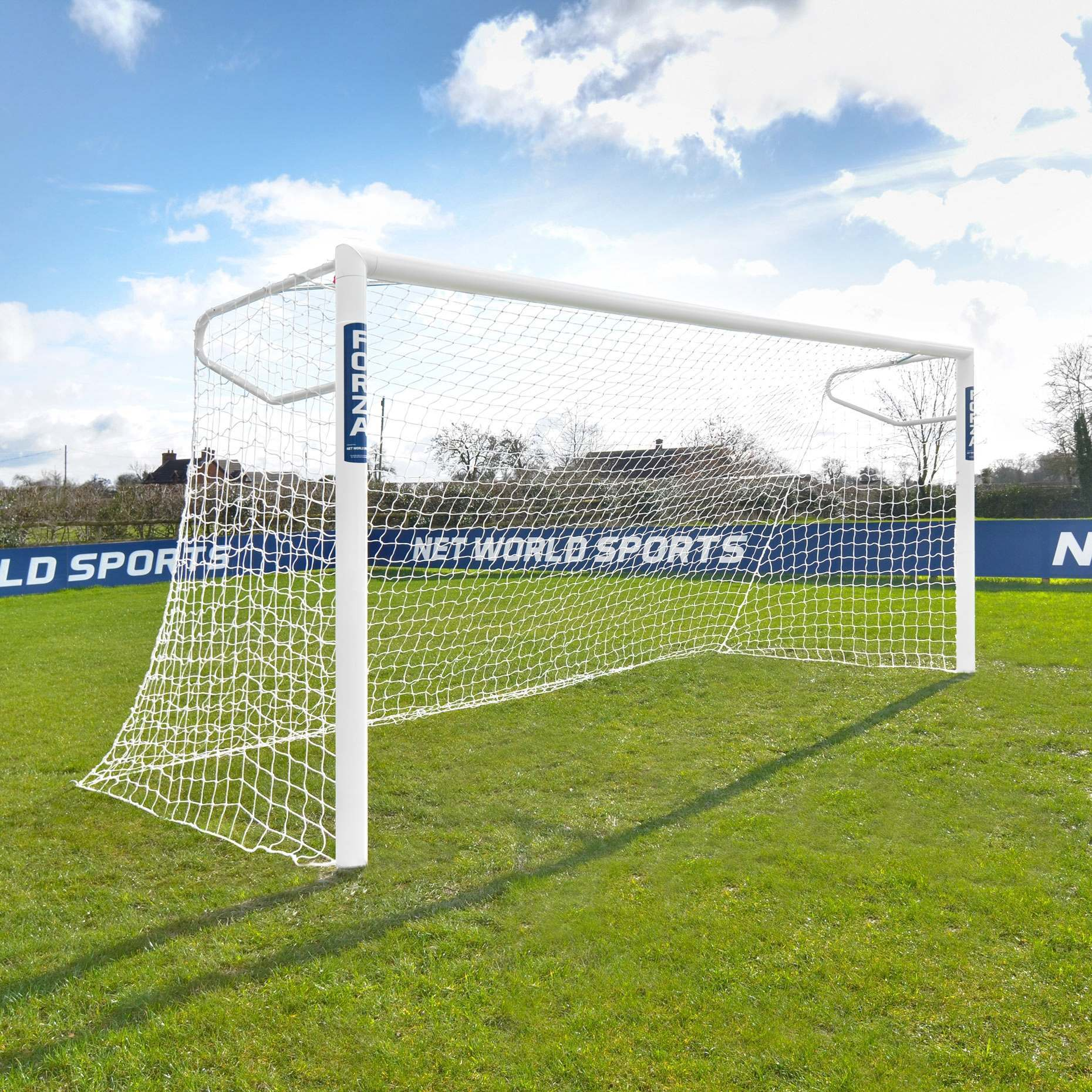 12 x 6 FORZA Alu110 Socketed Football Goal - Single Goal