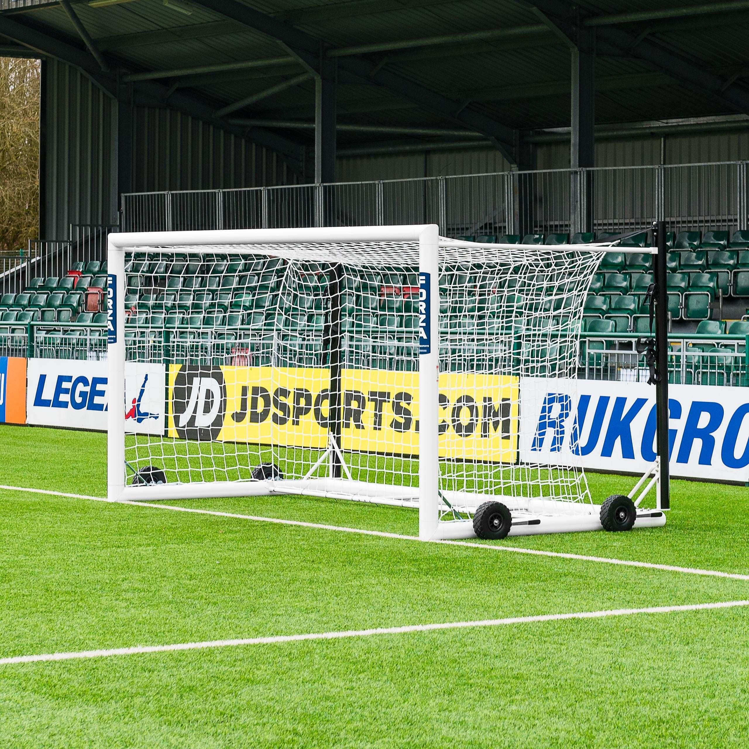 12 x 6 FORZA Alu110 Freestanding Stadium Box Soccer Goal