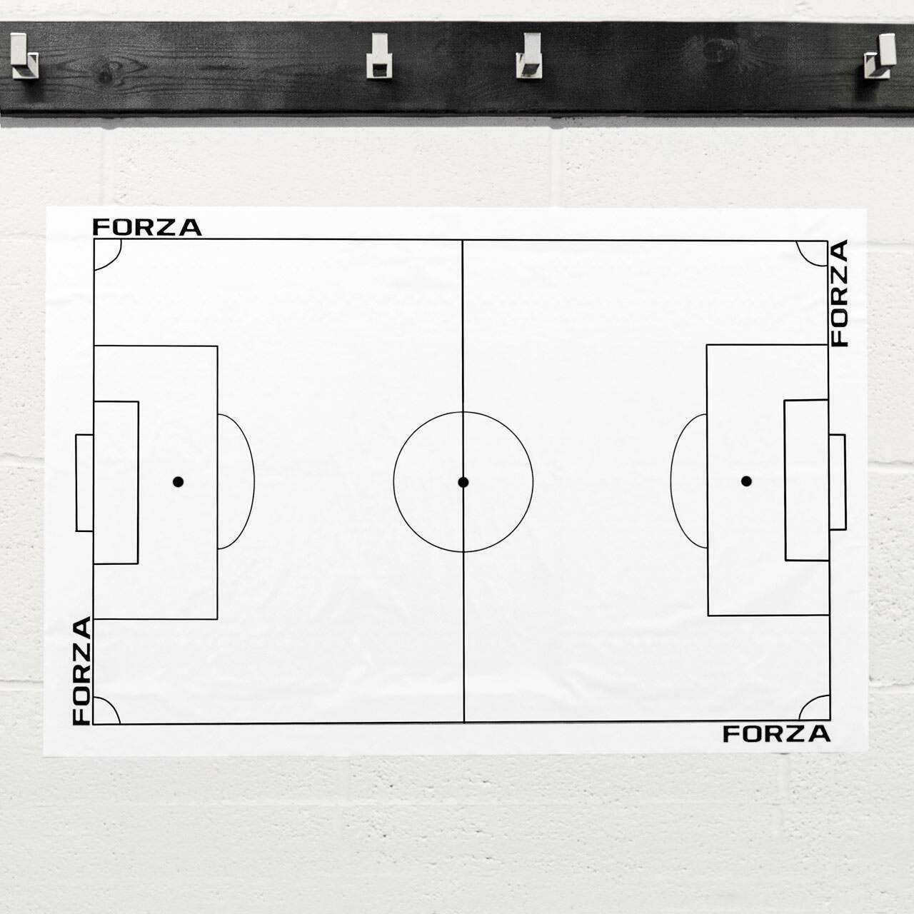 FORZA Adhesive Football Tactics Sheet