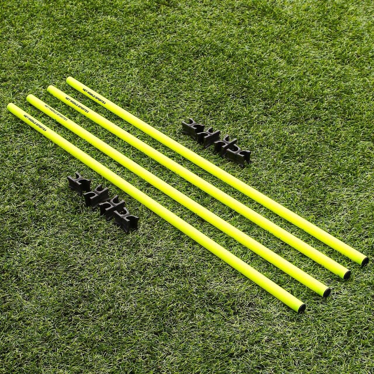 mit Tragetasche Set 12 gelbe Slalomstangen mit Querstangen und Clips