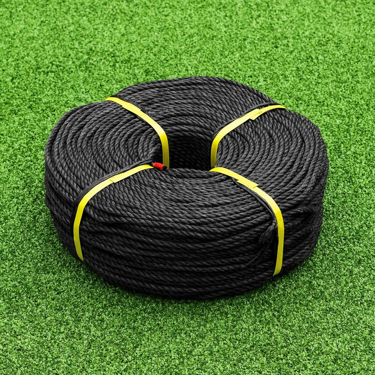 6mm Black Polypropylene Rope - 721ft Coil