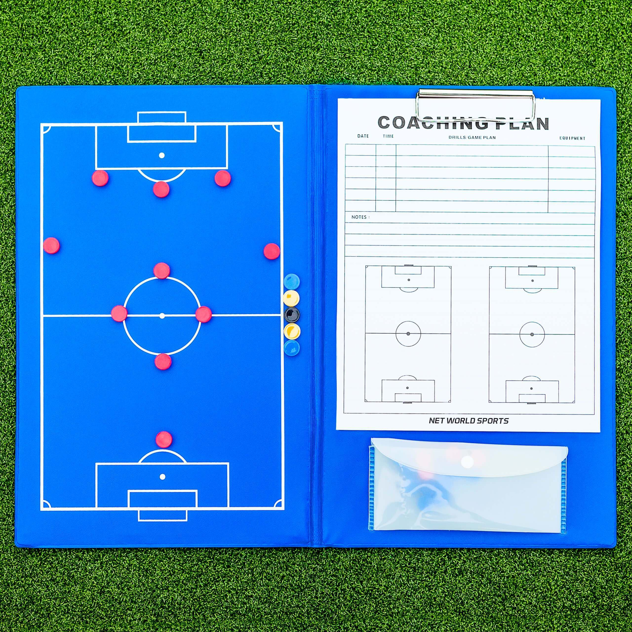 A4 Magnetic Soccer Coaches Tactics Folder