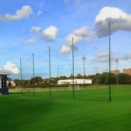 Video for Ball Stop Net & Post System [12ft/20ft High - Removable]