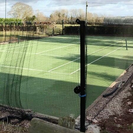 Tennis Court Surround Net, Post & Tension Wire System