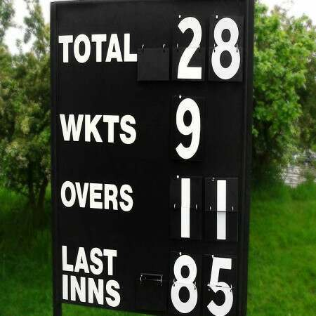 5' Wooden Cricket Scoreboard
