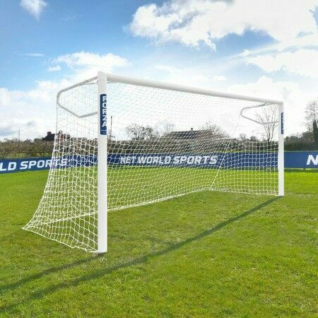 12 x 6 FORZA Alu110 Socketed Football Goal (Football Goal Set)