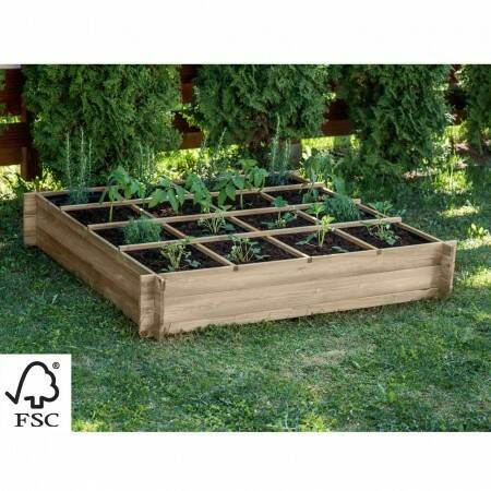 Harrier Wooden Raised Bed [16 Sections] | Net World Sports