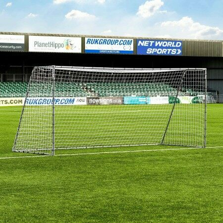 4.9m x 2.1m FORZA Steel42 Football Goal | Net World Sports