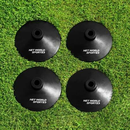 Heavy Duty Rubber Rounders Pole Bases | Net World Sports