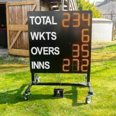 Club Electronic Cricket Scoreboard [1.1m x 1.2m] | Net World Sports