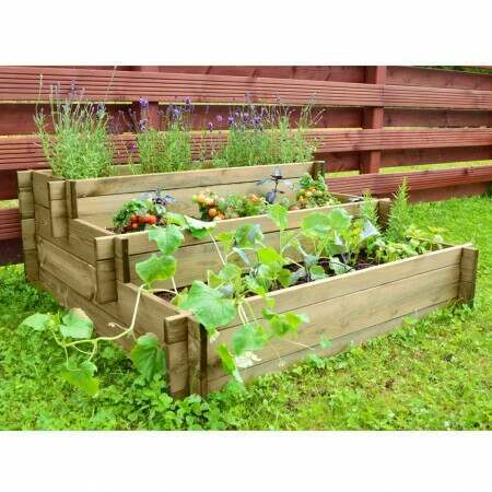 Harrier Wooden Raised Bed [3 Tier] | Net World Sports