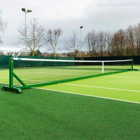 42ft Doubles Regulation Freestanding Tennis Posts | Net World Sports