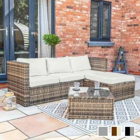 Harrier Rattan Corner Sofa Set [4 Seats] | Net World Sports