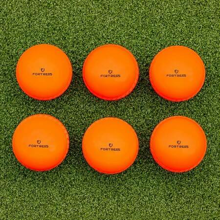 6 Pack Of High-Visibility Fluro Orange Cricket Balls | Net World Sports