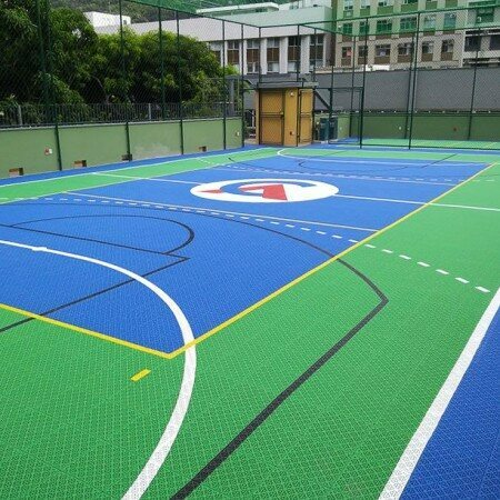Multi-Sport Court & Playground Modular Floor Tiles System