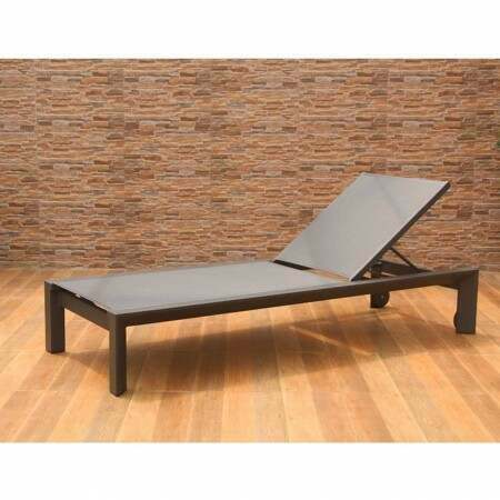 Harrier Luxury Aluminium Sun Lounger [Pair] - Charcoal