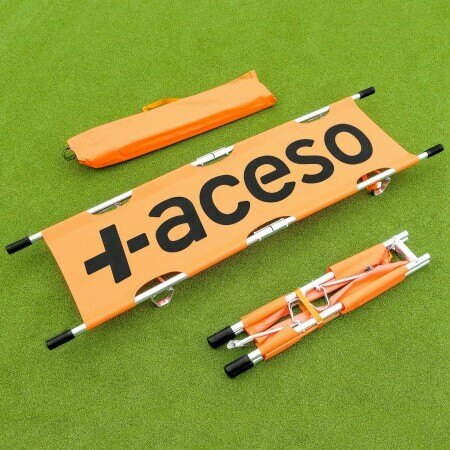 Orange Foldable Aluminum Stretcher
