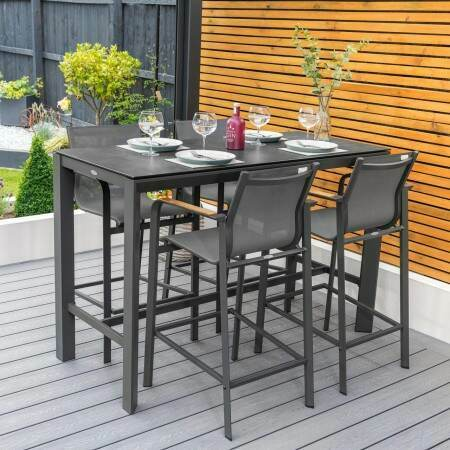 Harrier Outdoor Bar Stools & Table Set | Net World Sports