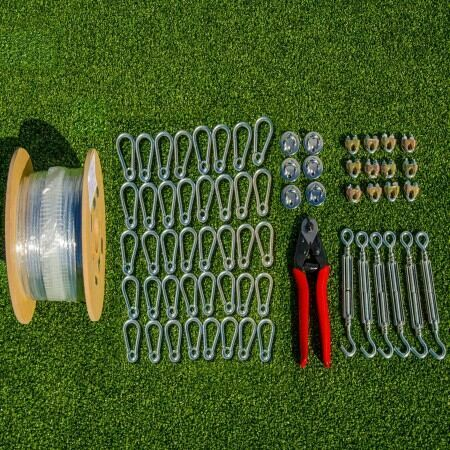 Netting Wire Tension Kit [For 35ft-70ft Baseball Batting Cages]