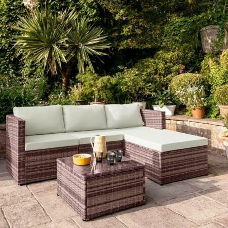 Harrier Rattan Corner Sofa Set [4 Seats] | Net World Sports