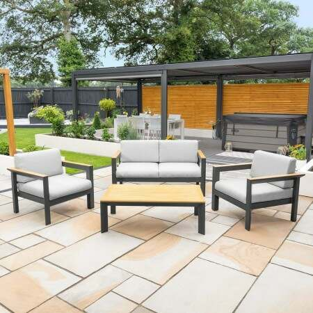 Harrier Luxury Alu Garden Sofa & Table Set | Net World Sports