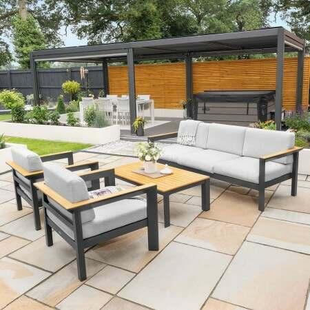 Harrier Luxury Garden Sofa Set [5 Seat] | Net World Sports