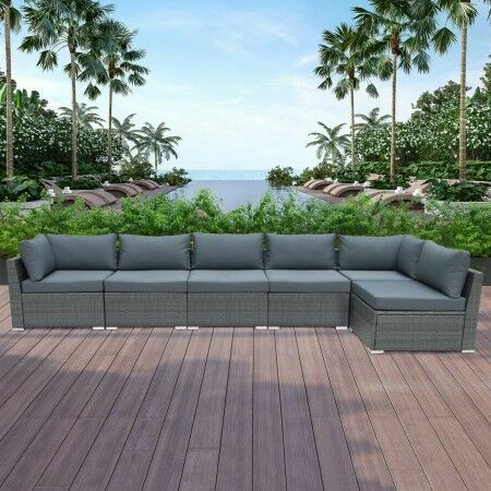 Harrier Rattan Corner Sofa Set [6 Seats] | Net World Sports