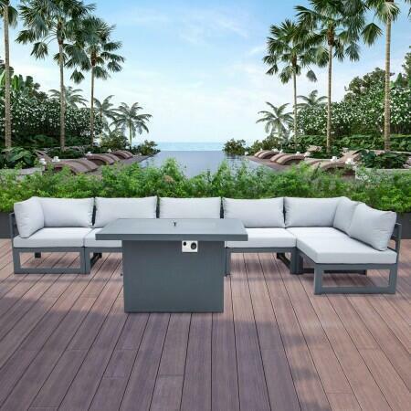 Harrier Alu Corner Sofa Set [6 Seats] | Net World Sports