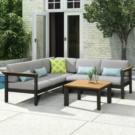 Harrier Luxury Corner Sofa & Table Set | Net World Sports