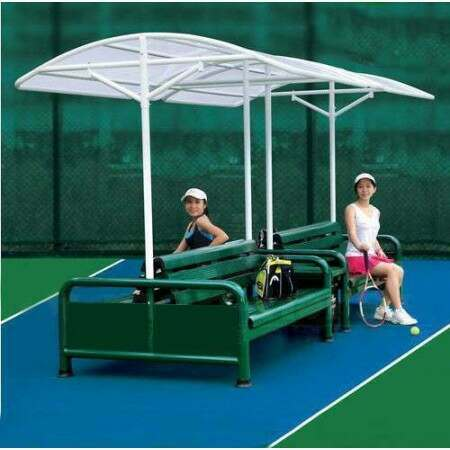 Double Sided Tennis Court Bench Set - Forest Green | Tennis Bench | Tennis Chair | Tennis Court Seating | Tennis Court Equipment