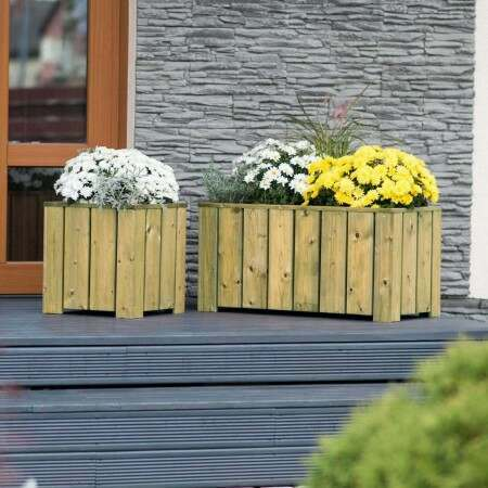 Harrier Wooden Planters | Net World Sports