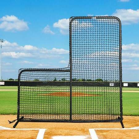 FORTRESS 7ft x 7ft Baseball L-Screen Frame and Net | Net World Baseball
