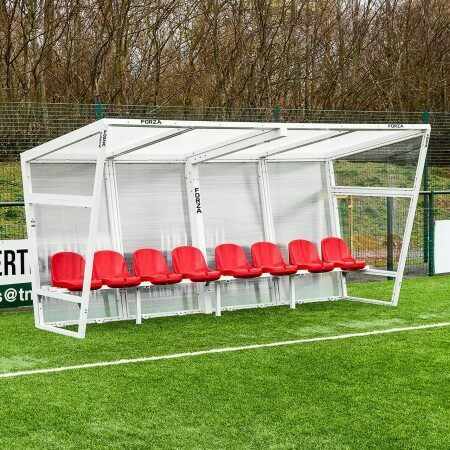 Red Aluminium Sports Team Shelter
