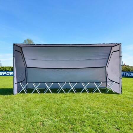 Football Team Shelter & 8 Seat Bench Package | Net World Sports Australia