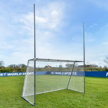Galvanized Steel GAA Gaelic Football Goal For The Backyard | Net World Sports