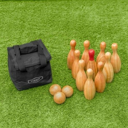 Harrier Wooden Skittles Set | Net World Sports