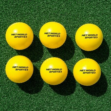 6 Pack Of High-Visibility Yellow Cricket Balls | Net World Sports