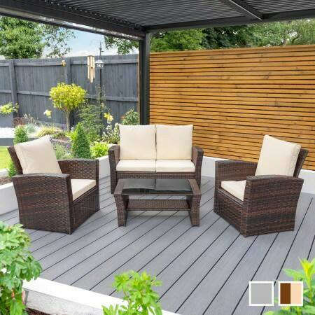 Harrier Rattan Garden Sofa & Table Set | Net World Sports