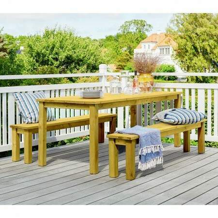 Harrier Wooden Table & Bench Set | Net World Sports