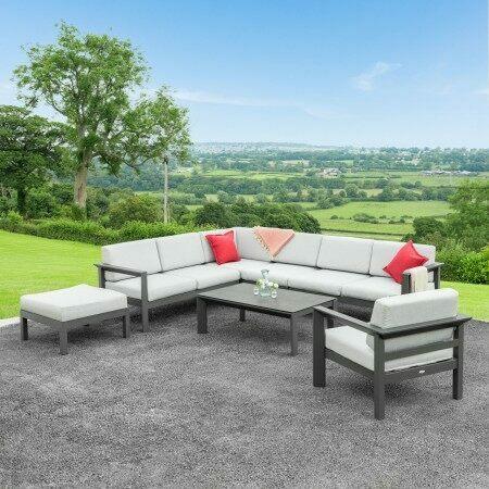 Harrier Luxury Garden Corner Sofa & Table Set | Net World Sports