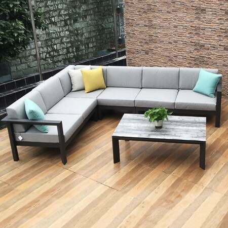 Harrier Luxury Garden Corner Sofa & Table Set | Net World Sport