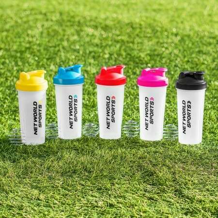 Pink, Blue Or Black Protein Mixer Bottles