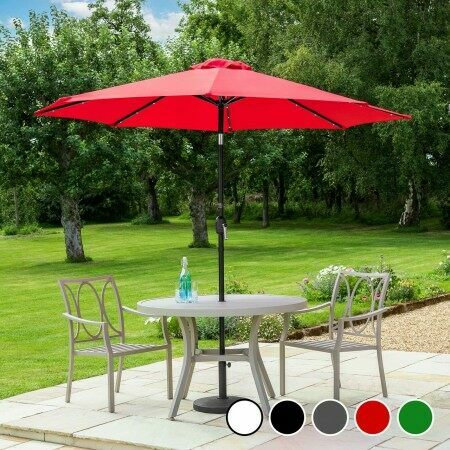 Harrier 2.7m Crank & Tilt Parasol [Crank & Tilt]  | Garden Umbrellas | Net World Sports