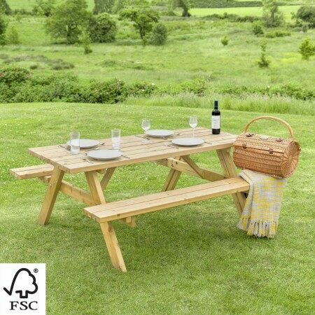 Harrier Wooden Picnic Table | Net World Sports