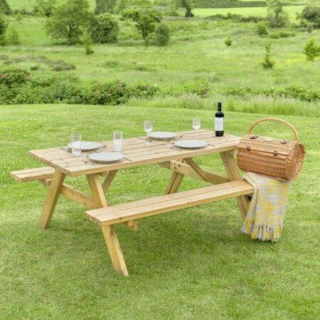 Harrier Wooden Picnic Table   Net World Sports