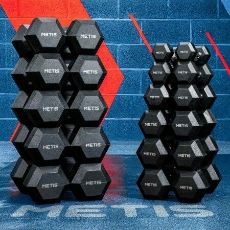 Metis Hex Dumbbell Weights [2.5kg-30kg] | Net World Sports