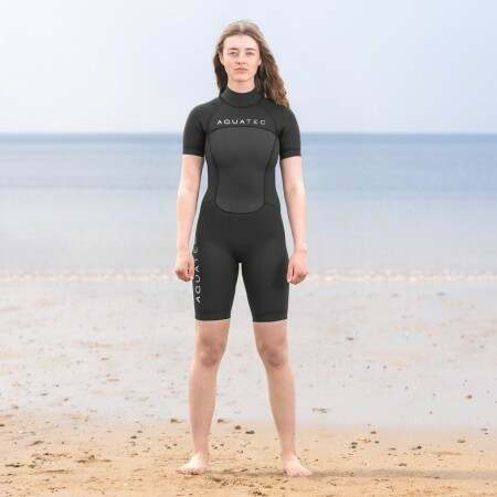 AquaTec 3/2mm Women's Shorty Wetsuit | Net World Sports