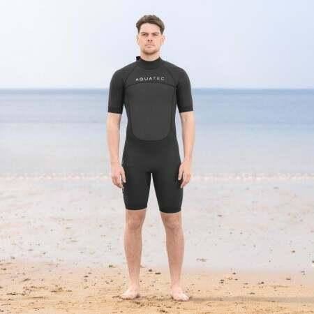AquaTec 3/2mm Men's Shorty Wetsuit | Net World Sports