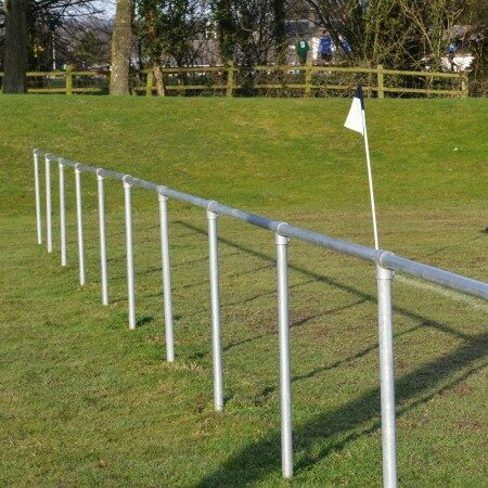 Silver Football Pitch Spectator Barrier